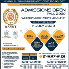 KASBIT Admission 2020, Last Date, Form, Entry Test Result