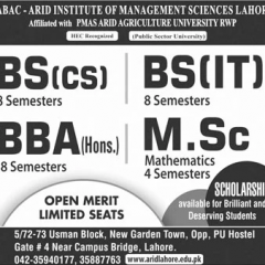 School of Advance Business & Commerce SABAC LHR Admission 2020