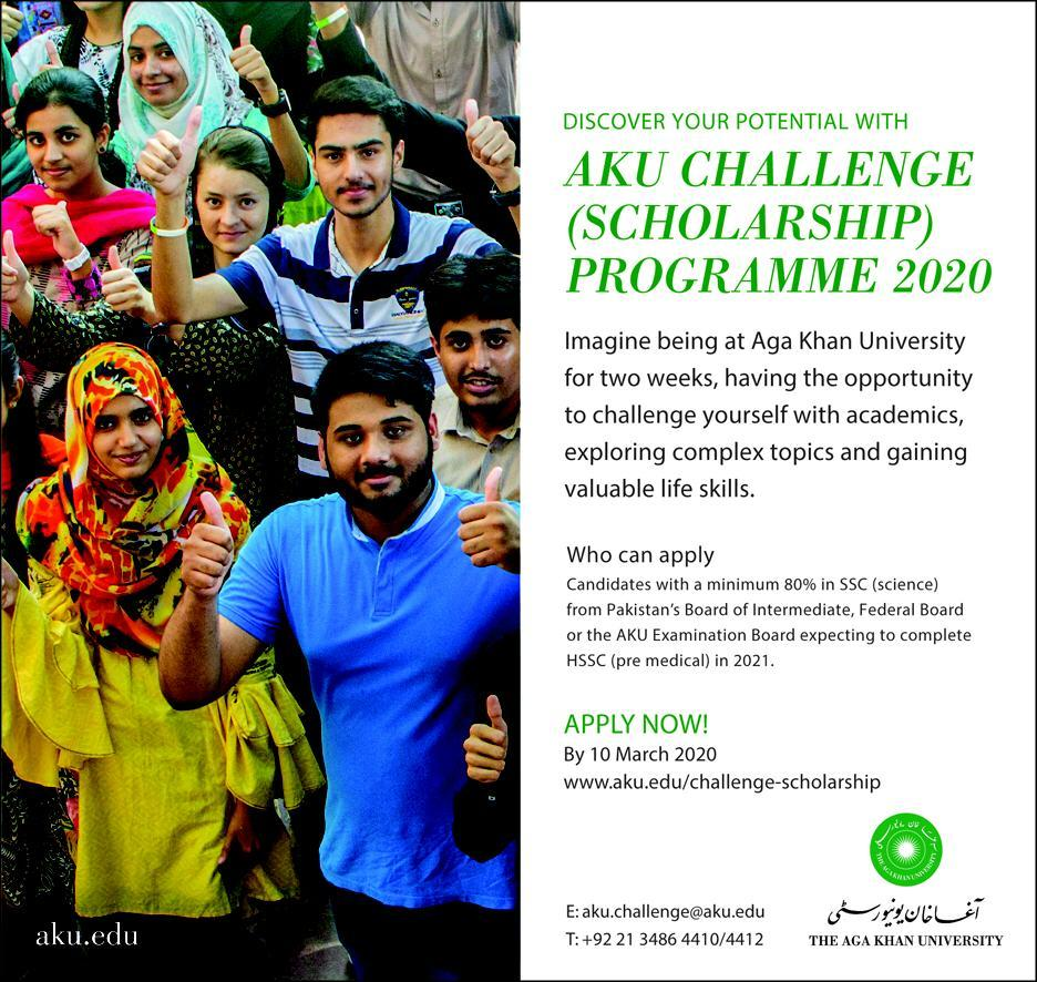 AKU Challenge Scholarship Programme 2020, Form, Sample Paper
