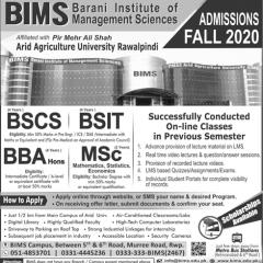 Barani Institute of Management Sciences BIMS Admission 2020