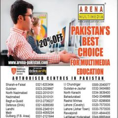 Arena Multimedia Pakistan Admission 2020, Courses, Fee, Discount