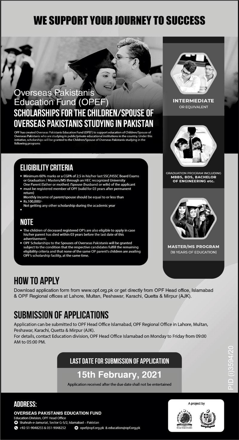OPF Merit Awards and OPEF Scholarships 2021-22
