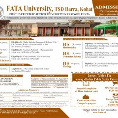 FATA University Admission 2020 in BS & BBA Programs
