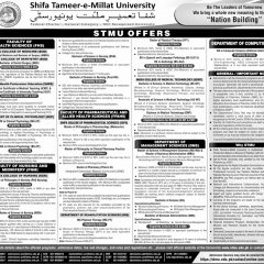 Shifa Tameer-e-Millat University STMU Islamabad Admission 2020, Apply Online
