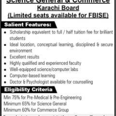 Fazaia Degree College Faisal Karachi 1st Year Admission 2020