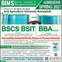 Barani Institute of Management Sciences BIMS Admission 2021