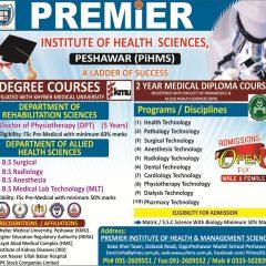 Premier Institute of Health Sciences Peshawar Admission 2021