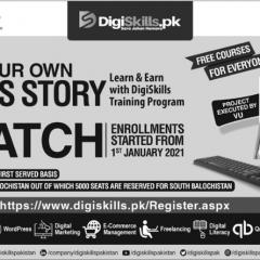 PM, VU & Ignite Digi Skills Program Admission 2021, Online Registration