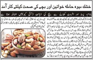 Amazing Benefits of Dry Fruits (Urdu-English)