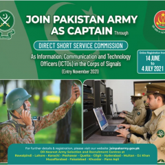 Join Pak Army 2021 as ICTO Through Direct Short Service Commission