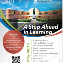 NUST Creative Learning School NCLS Admission 2021, Download Form